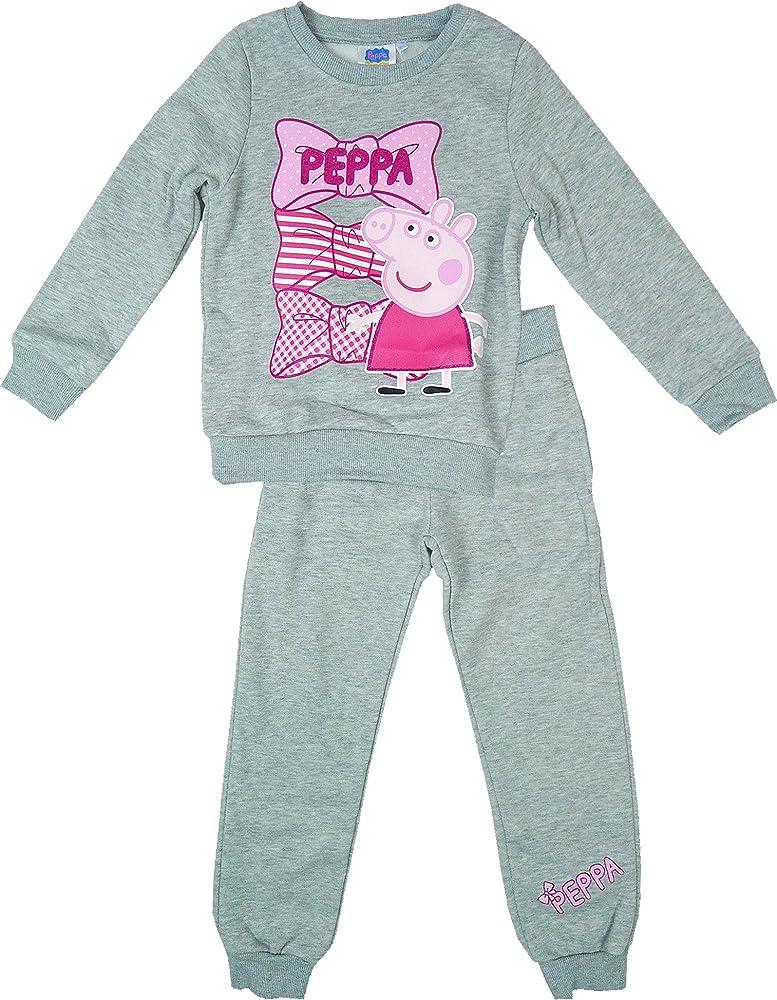 Niños Peppa Pig Chándal en una caja de regalo multicolor gris 4 ...