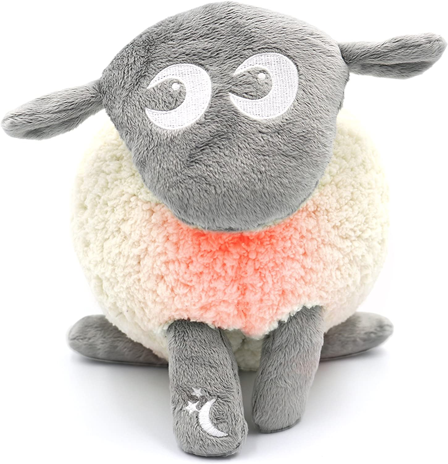 Sweet Dreamers, Ewan The Shushing Sheep - Crib Sleep Soother, Baby White Noise and Shusher Sound Machine with Cry Sensor and Night Light