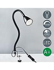 Lampada LED da tavolo con morsetto dimmerabile I incl. lampadina 5W GU10