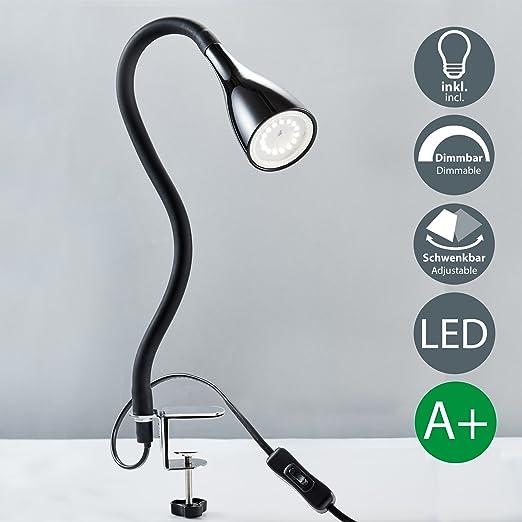 B K Licht Lampe A Pince Led Avec 3 Niveaux De Luminosite I Lampe De