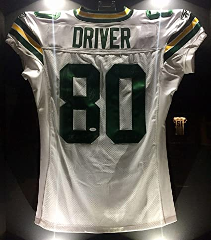 e0ab8b8bed0 Donald Driver Signed Jersey - SB XLV 2010 Team Issued Game COA HOF ...