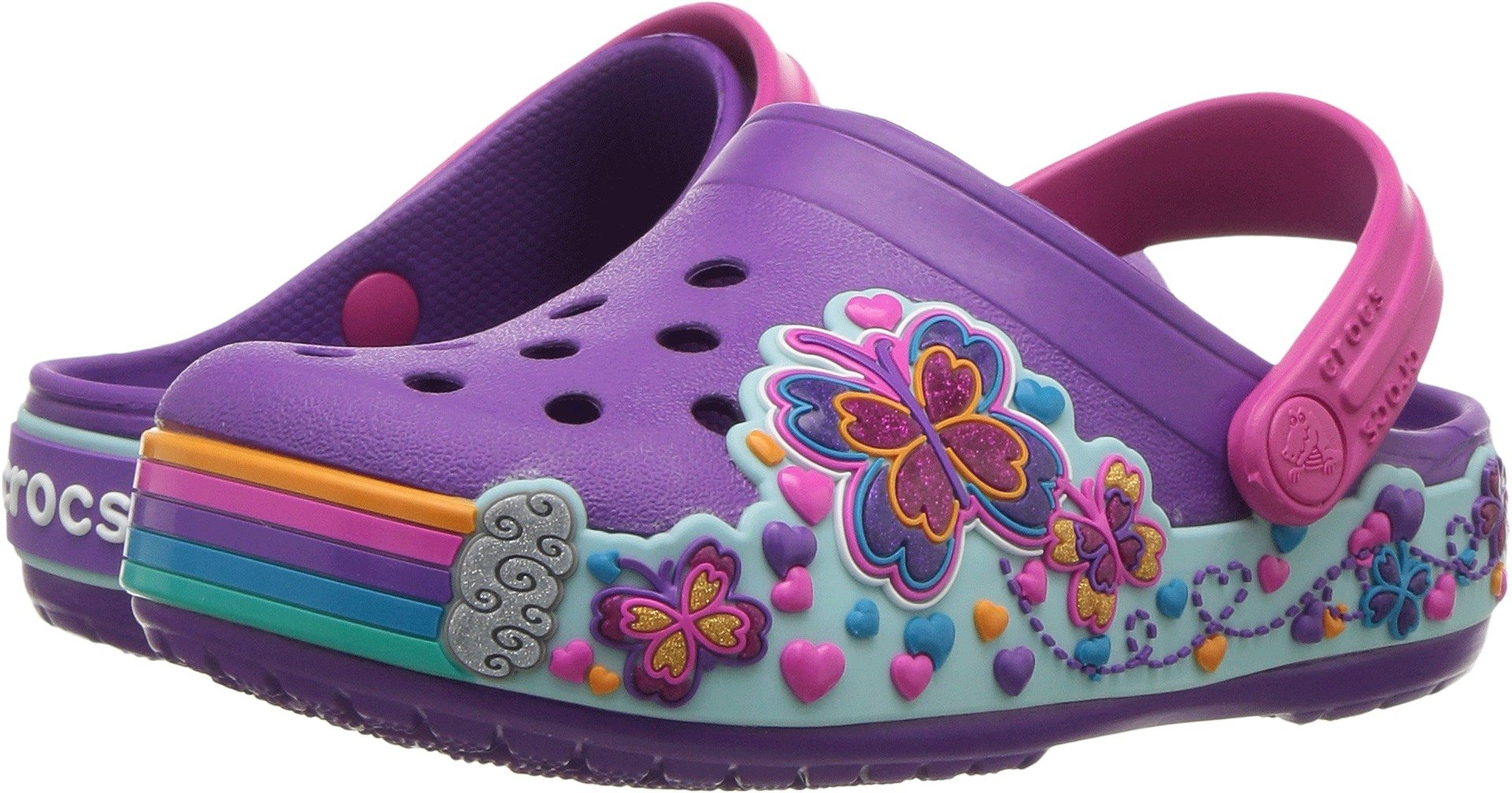 Crocs Crocband unisex-baby CB Fun Lab Graphic Clg K, amethyst, 4 M US Toddler