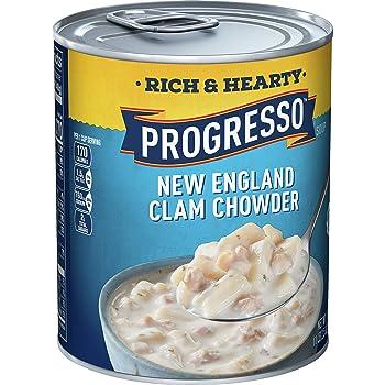 PROGRESSO 18.5oz Rich & Hearty New England Clam Chowder
