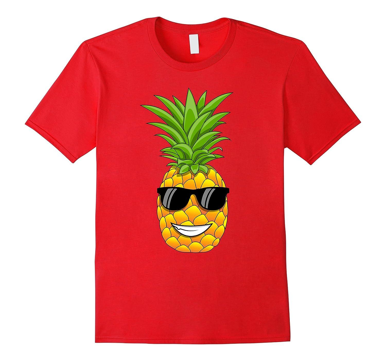 Hawaiian Pineapple T-Shirt with Sunglasses - Cool Tee Shirt-T-Shirt