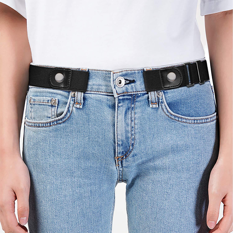 Amazon.com: Cinturón elástico invisible, sin hebilla, para ...