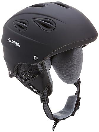 ALPINA Grap - Casco de esquí, color negro, talla 61-64 cm