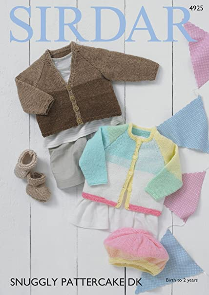 582955bc6a87 Sirdar 4925 Knitting Pattern Baby Cardigans Bootees and Beret in ...