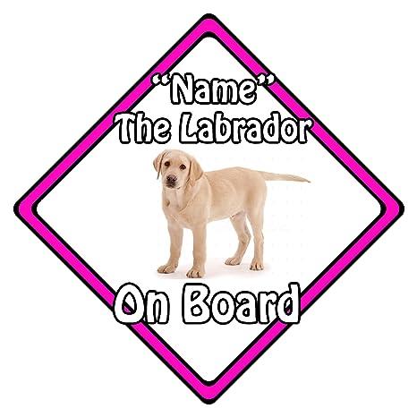 Cartel de seguridad personalizado para perro a bordo Blonde ...