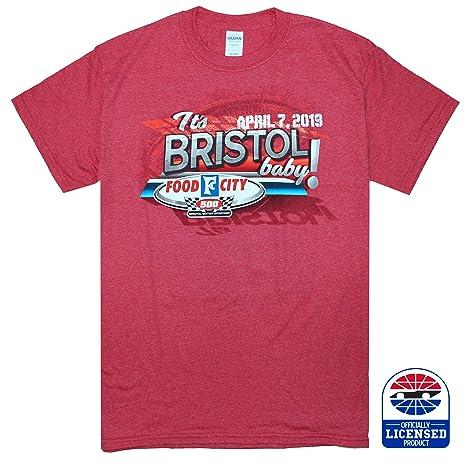 2fb186b55280 Amazon.com : Bristol Motor Speedway Food City 500 Event Tee Red ...