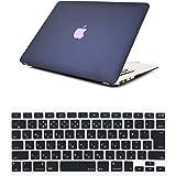 Se7enline MacBook Pro 13 インチ ハードケース 旧型2009-2012年 CD-ROM付き専用+日本語キーボードカバー(JIS配列)対応モデル:[MacBook Pro 13 インチ A1278] 牡丹青
