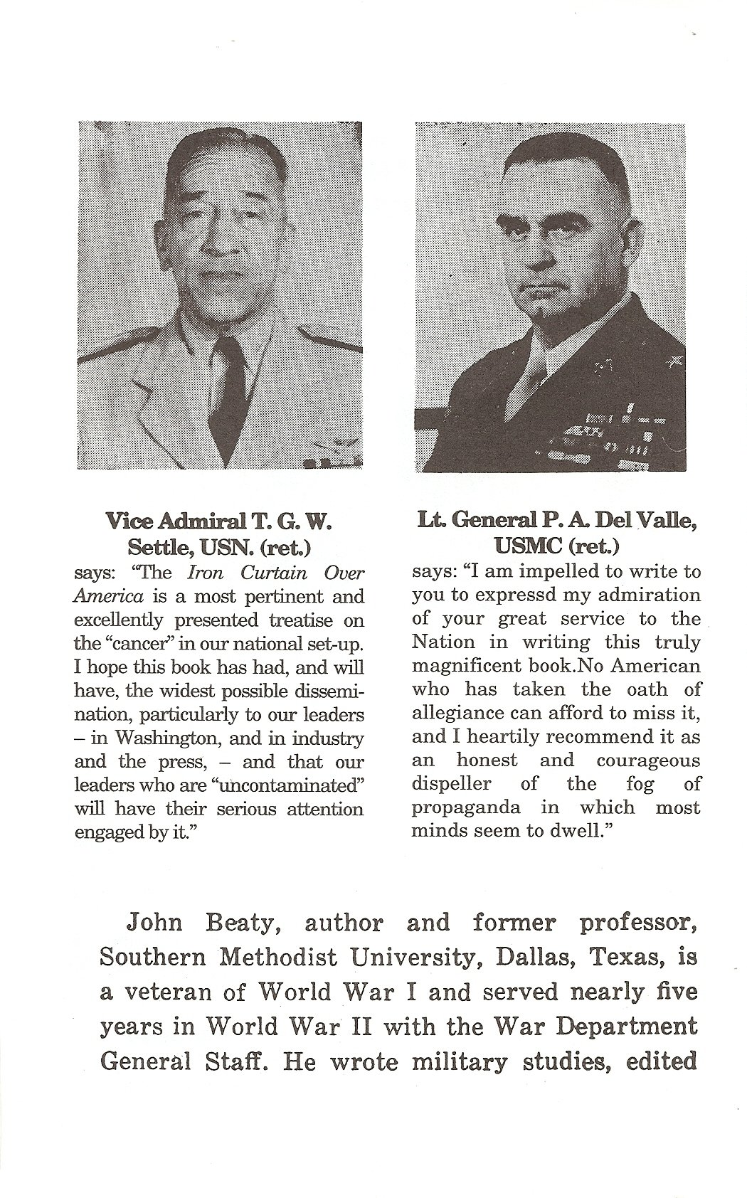 The Iron Curtain Over America Amazoncouk John Beaty 9781112762062 Books