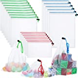 Toy Storage Organization Mesh Bags 20 Pieces Mesh Organizer Bags Washable Reusable Mesh Produce Bags 5 Large 8 Medium 7…