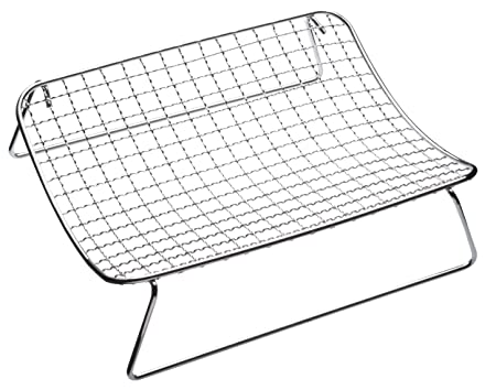 Kitchen Craft Chrome-Plated Wire Mesh Cooling and Roasting Rack, 25 ...