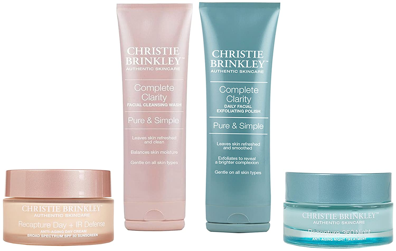 Christie Brinkley 4-piece-Recapture 360, Day & Night, Facial Wash, Exfoliating Polish