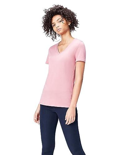 FIND Camiseta Extralarga con Cuello de Pico Mujer