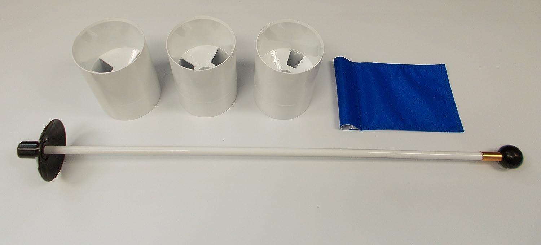 ゴルフPractice Putting Green – 天然または合成 – アクセサリキット – ( 3 )明るいホワイトプラスチック6