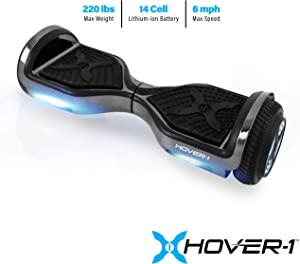 Hover-1 Chrome Electric Hoverboard Scooter, Gun Metal