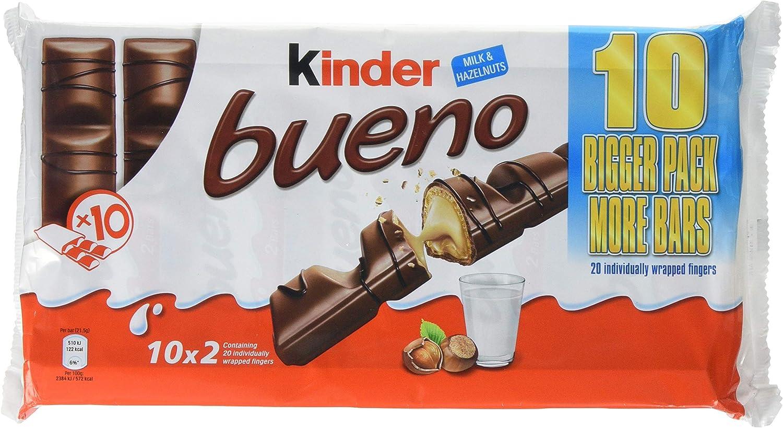 Kinder Bueno Chocolate (10 x 43g): Amazon.es: Alimentación y bebidas