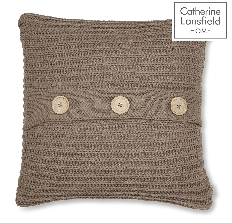 Catherine Lansfield Coussin tricot/é avec garnissage 45 x 45 cm Funda de coj/ín Bleu Ciel