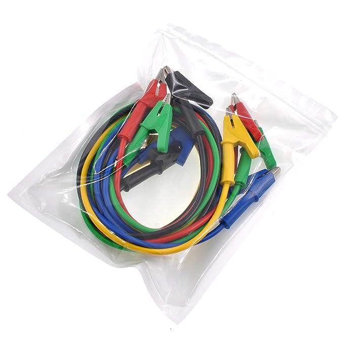 en 5 colores conectores banana apilables de 4/mm y cables de prueba con pinzas de cocodrilo para mult/ímetro o pruebas el/éctricas de laboratorio Willwin
