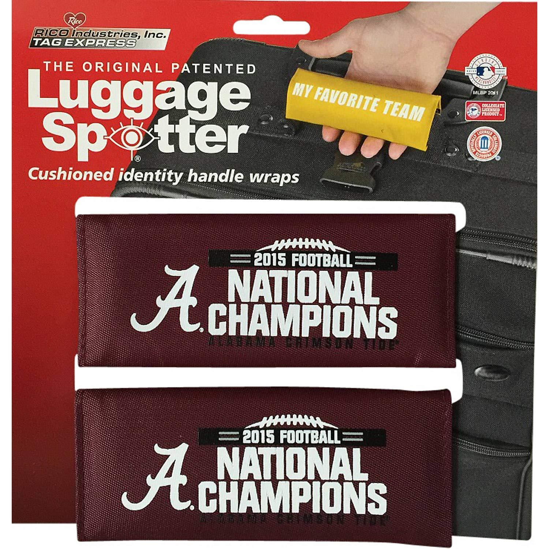 Alabama National Champions Luggage Spotter荷物ロケータ/ハンドルグリップ/グリップ/旅行バッグタグLuggage / Luggageハンドルラップ( 2 - Pack ) – ライセンスExpiring 。Closeout 。   B01ES5LTQ6