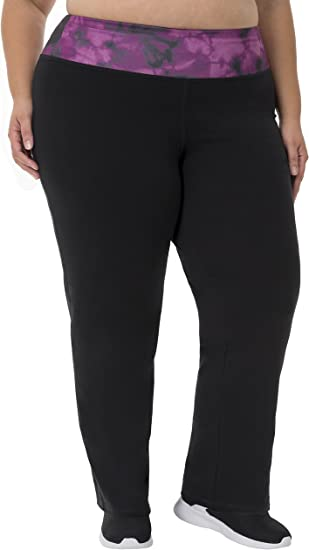 Fruit of the Loom Womens Plus-Size Relaxed Fit Yoga Pant