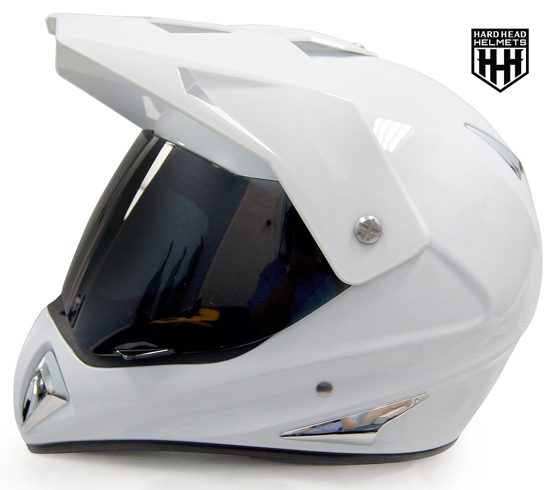 Dirt Bike Helmet With Visor >> Smartdealsnow Hhh Dot Adult Helmet For Dirtbike Atv Motocross Mx Offroad Motorcyle Street Bike Snowmobile Helmet With Visor Medium Gloss White