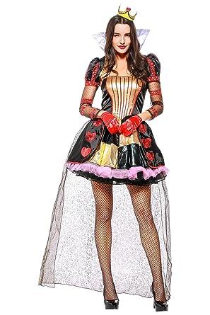 Obtai Halloween Vampire Queens Costume Princess Cosplay Dress Suit Prom Skirt Robe