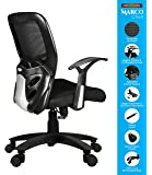 SAVYA HOME APEX Plastic Chairs MARCOZY Star Base Medium Back Office Chair, Standard, Black