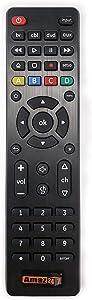 Amaz247 Universal Remote Control for Samsung, Hisense, Vizio, LG, Sony, Hitachi, Sharp, Roku, Apple TV, RCA, Panasonic, Smart TVs, Streaming Players, Soundbar, Blu-ray, DVD, Simple Setup 4-Device