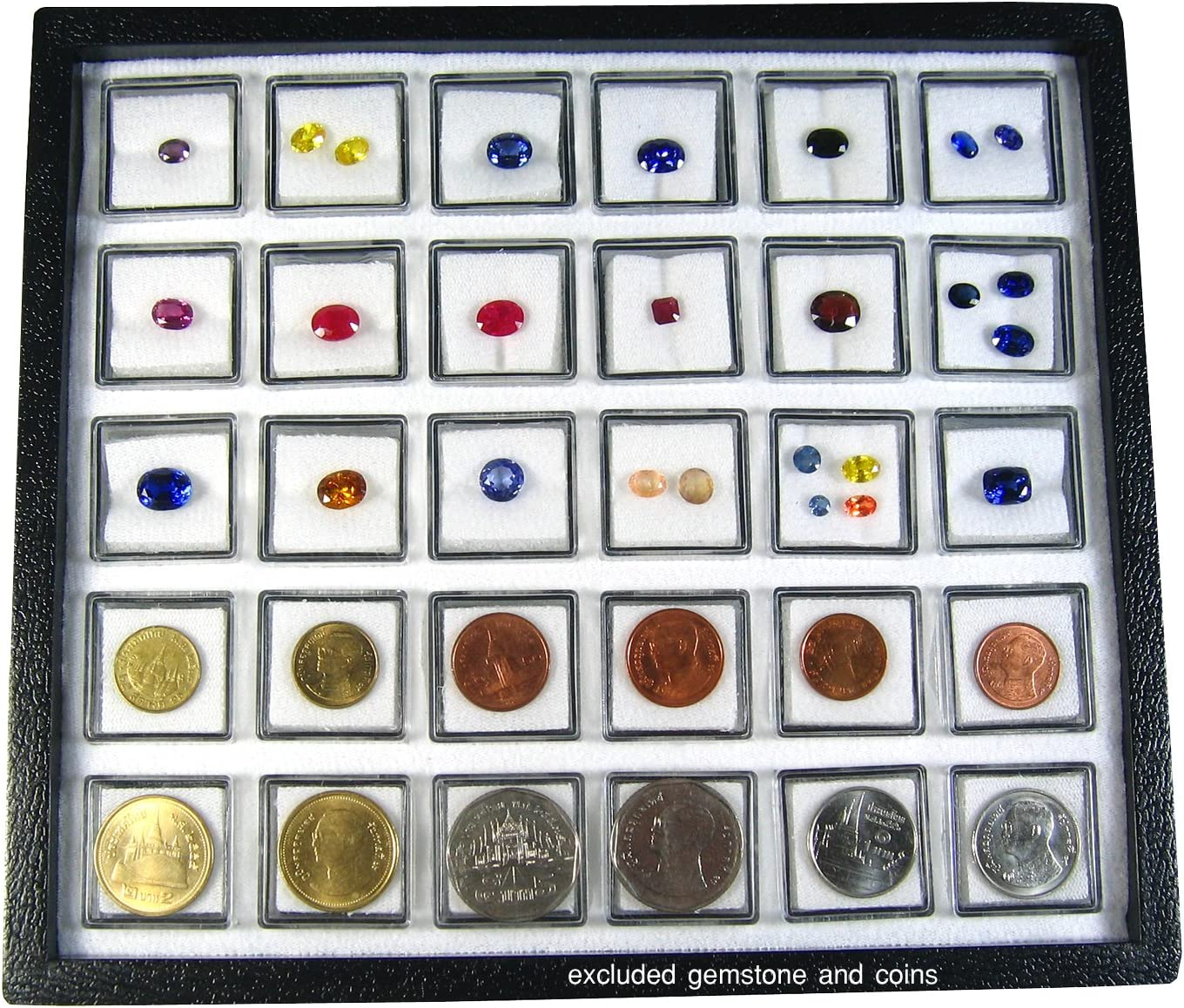 Square Coin Storage Case Display Box Holders For 12 Coins Collection Container