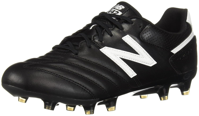 New Balance Men's 442 Team FG V1 Classic Soccer Schuhe, schwarz Weiß, 12 D US
