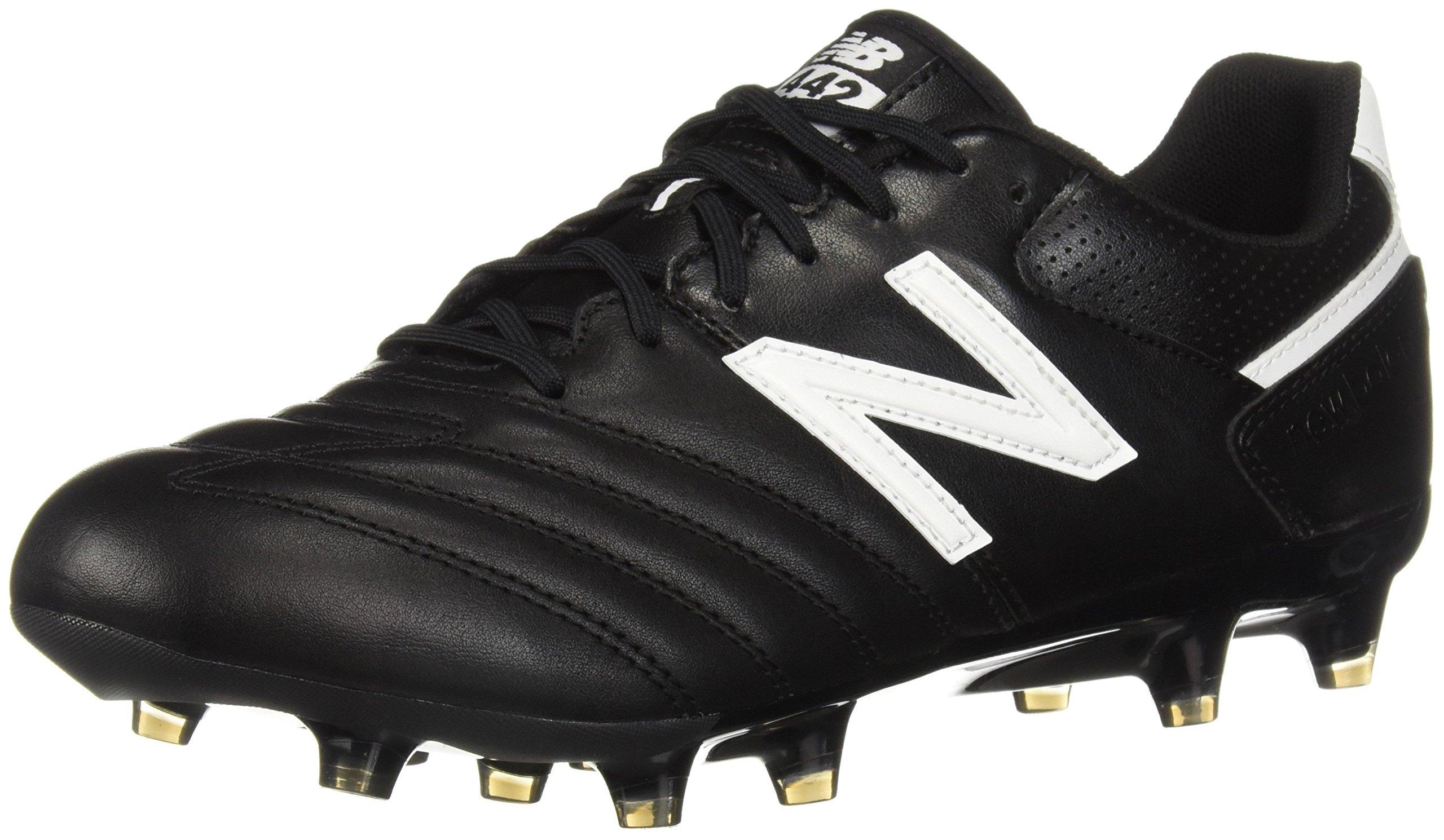 New Balance Men's 442 Team FG V1 Classic Soccer Shoe, Black/White, 10.5 2E US