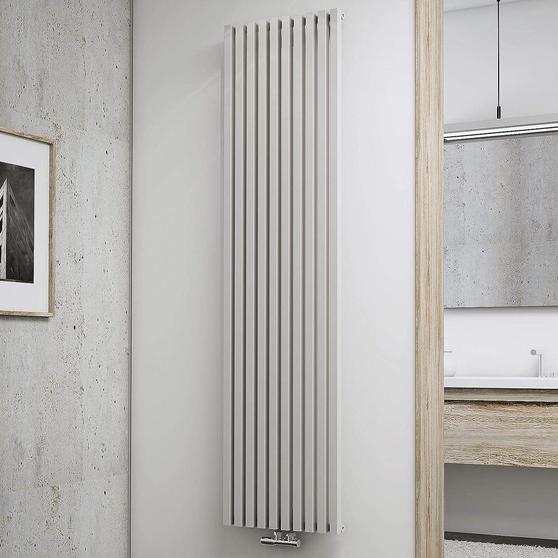 Schulte Design-Heizk/örper Lyon 180 x 46 cm 1094 Watt Leistung caf/é-braun Wohnraumheizk/örper f/ür Zweirohr-Systeme Mittelanschluss
