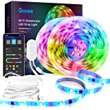 Govee Rgbic Led Strip Lights 32.8 Feet, Works with Alexa and Google Assistant for Bedroom, Kitchen