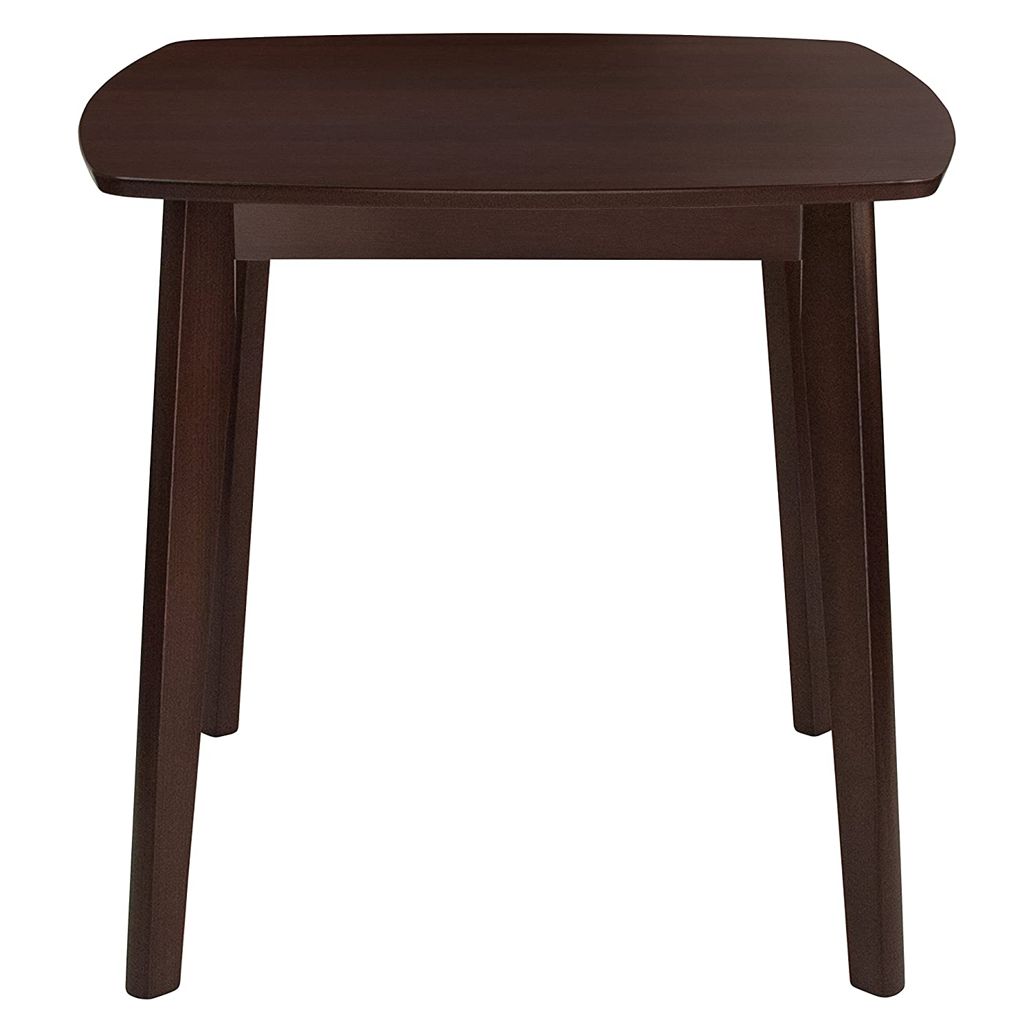 Flash Furniture Whitman 31.5 Square Espresso Finish Wood Dining Table with Clean Lines and Braced Legs