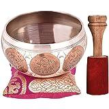 "Tibetan Singing Bowl Set - 4"" Premium Meditation Sound Bowl Beautifully Handcrafted by Professional Artisans in Nepal"