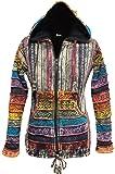 SHOPOHOLIC FASHION Rainbow Sleeved Fleece Lined Women Hippie Jacket Festival Gypsy Boho Goth Hoodie