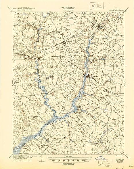Amazon.com: YellowMaps Denton MD topo map, 1:62500 Scale, 15 X 15 ...