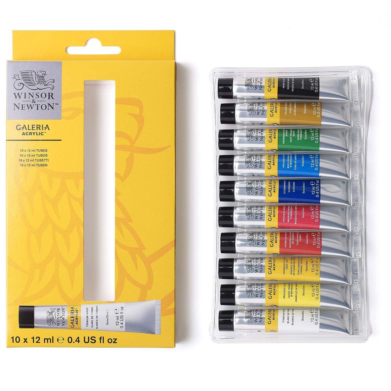 Winsor & Newton Galeria 2190605 zestaw farb akrylowych, wielokolorowy, 10 kolorów