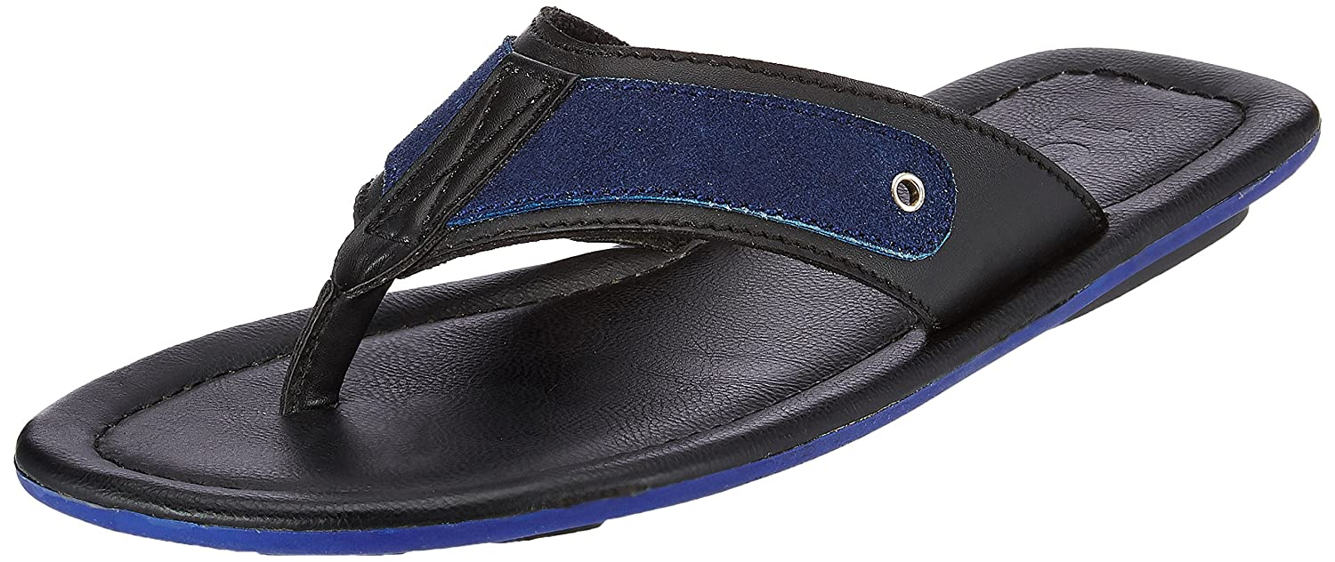 cf9bcd8209a ESTD.1977 Men s Black Flip Flops Thong Sandals - 11 UK India (45 EU)  Buy Online  at Low Prices in India - Amazon.in