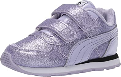PUMA Kids' Vista Glitz Hook and Loop Fastener Sneaker