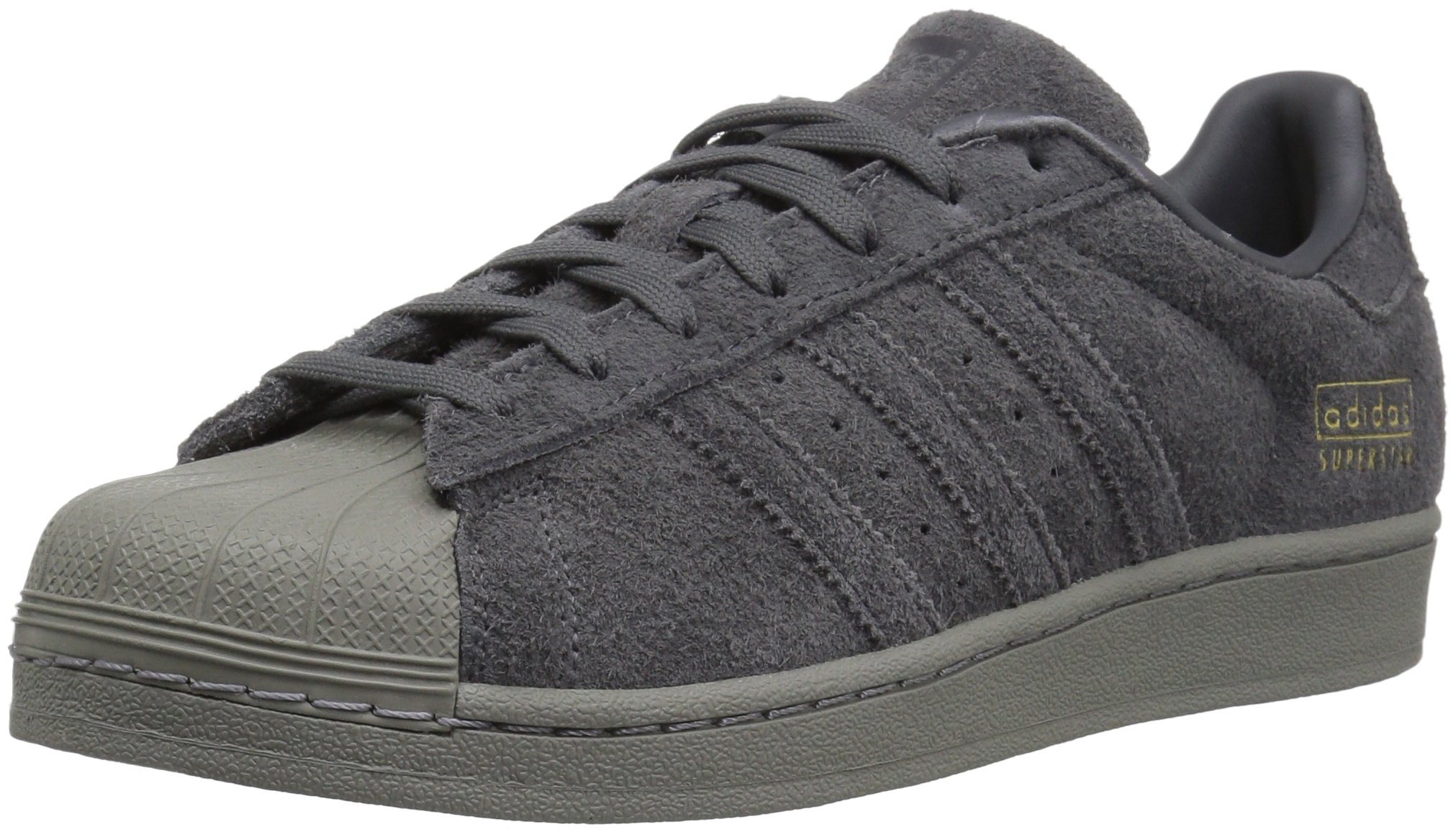 adidas Originals Men's Superstar Running Shoe, Grey Five Utility Black, 10.5 Medium US