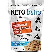 Keto B'stro - Hawaiian Macadamia Nuts, Dry Roasted, Sea Salted, Made in USA, 24oz