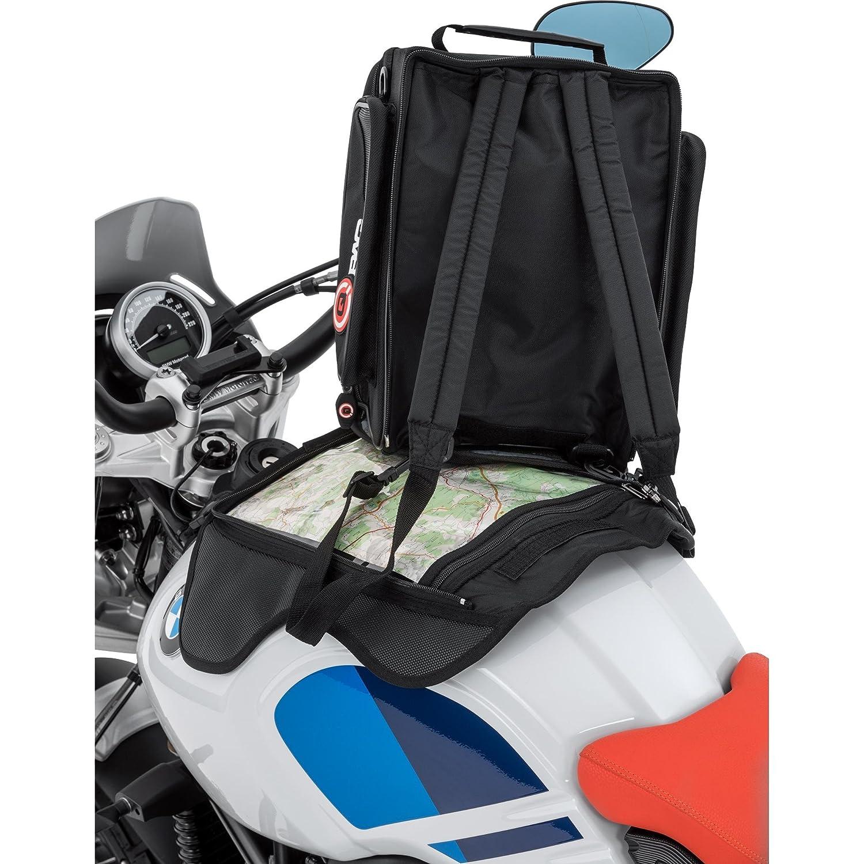 Schwarz 12 Liter QBag Motorrad-Tankrucksack Magnet hochrei/ßfest haftstarke Magneten f/ür Stahltanks Magnet-Tankrucksack Tankrucksack 05 Magnet // Rucksack // Kartentasche meist unabh/ängig von der Tankform verwendbar