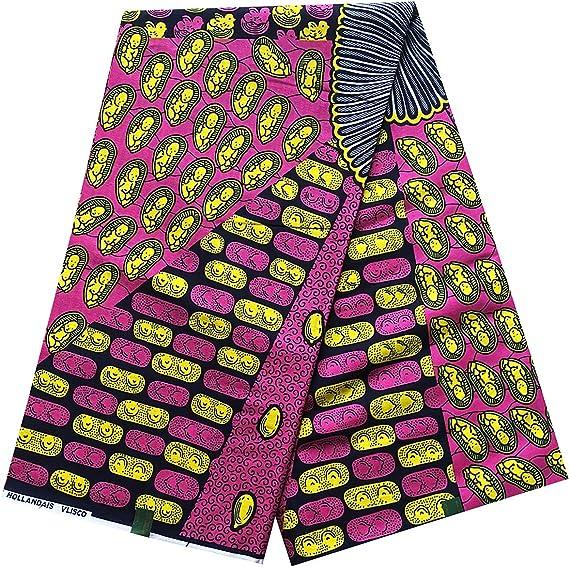 Green and Pink African Fabric; Ankara Fabric; African Clothing; African Fabric in yard; African Headwrap;Fabric in yards; Fabricbytheyard