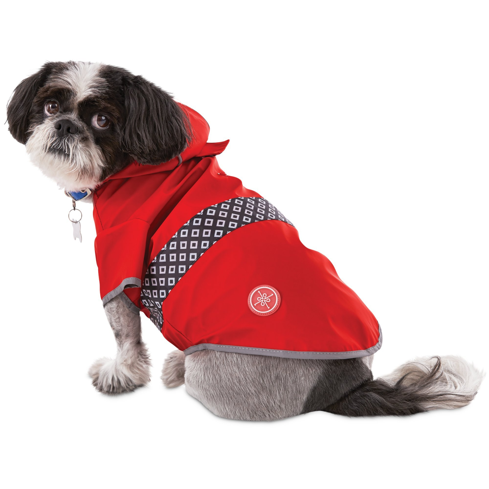 Good2Go Reversible Dog Raincoat in Red, Small