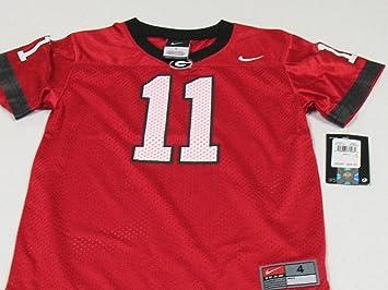 Nike Georgia Bulldogs preescolar réplica camiseta de fútbol – rojo ...