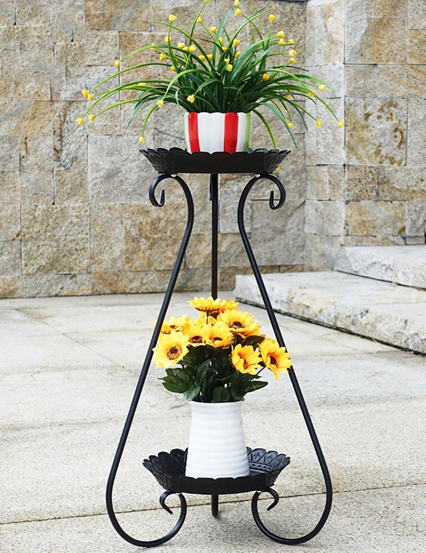 LB huajia ZHANWEI Europäische Stil Blume Rack Eisen Multilayer Boden Typ Innen Wohnzimmer Blumen Rack Balkon Chlorophytum Flower Rack (Farbe : A, größe : III)