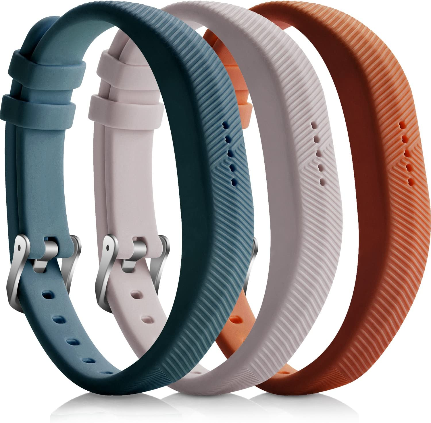 iBREK for Fitbit Flex 2 Replacement Bands No Tracker Adjustable Soft Silicone Accessory Wristband for Women Man